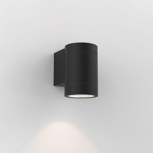 Astro Dartmouth Single GU10 Outdoor Wall Light in Textured Black 1372011