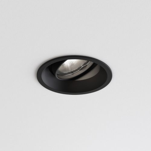Astro Minima Round Adjustable Indoor Downlight in Matt Black 1249016