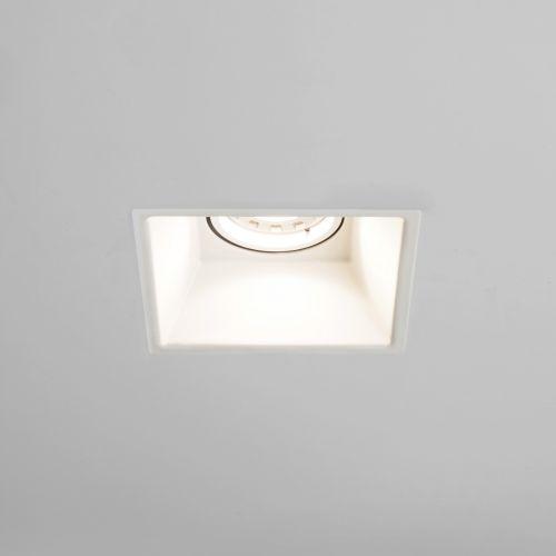 Astro Minima Square Fire-Rated Indoor Downlight in Matt White 1249011