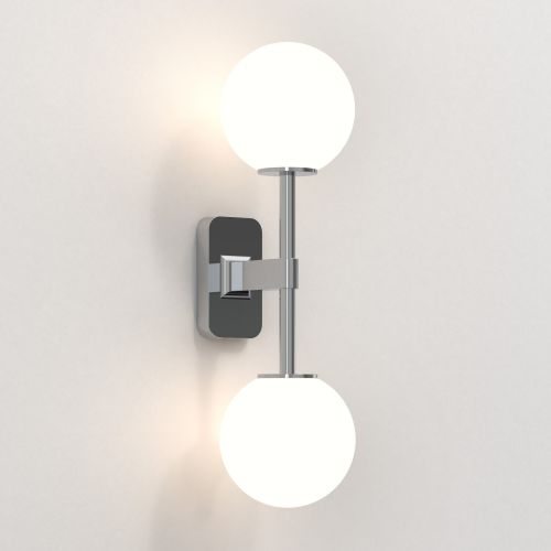 Astro Tacoma Twin Bathroom Wall Light in Polished Chrome SHADES NOT INCLUDED 1429002