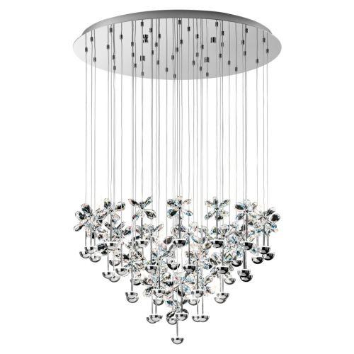 Eglo Pendant LED Diam.780 Chrome/Crystal Pianopoli 93661