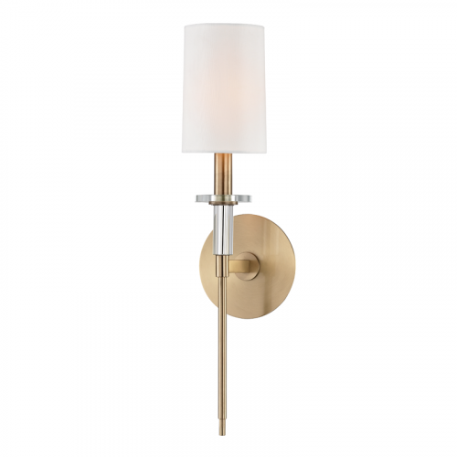 Wall Light Fitting Aged Brass Hudson Valley Amherst 8511-AGB-CE