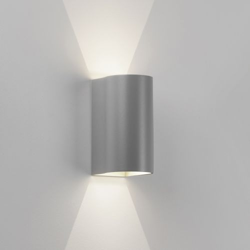 Astro Dunbar 160 LED Outdoor Wall Light in Textured Painted Silver 1384009