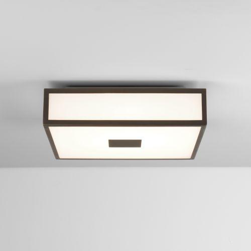 Astro Mashiko 300 Square LED II Bathroom Ceiling Light in Bronze 1121062