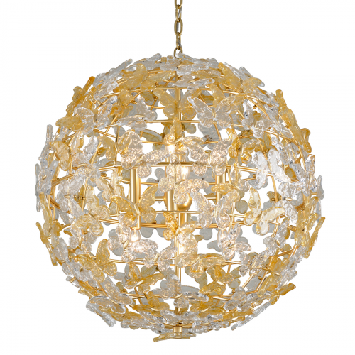 Large Ceiling Pendant 8 Light Gold Leaf Corbett Milan 279-48-CE
