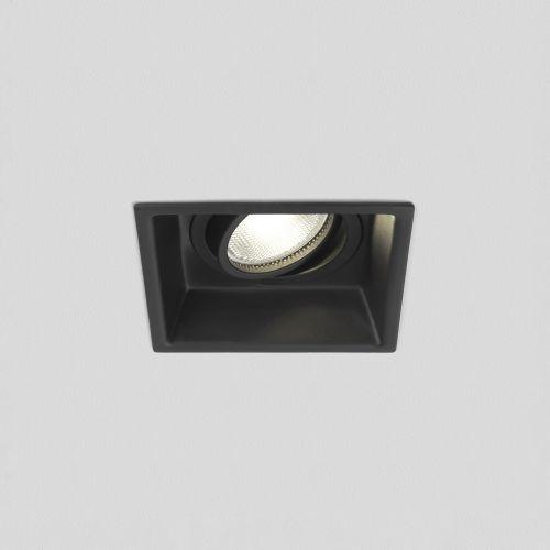 Astro Minima Square Adjustable Indoor Downlight in Matt Black 1249020