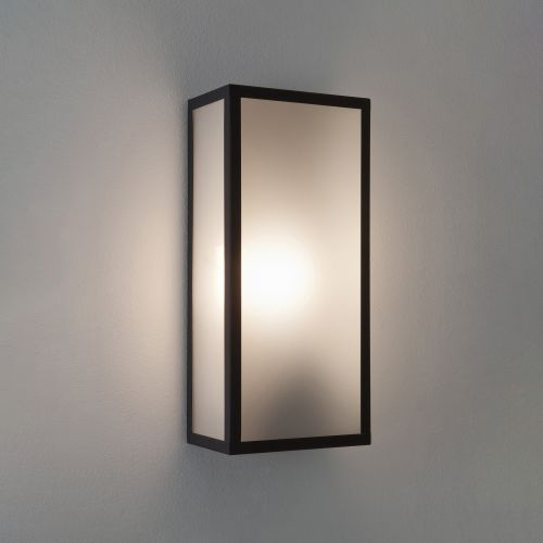 Astro Messina Sensor Outdoor Wall Light in Textured Black 1183004