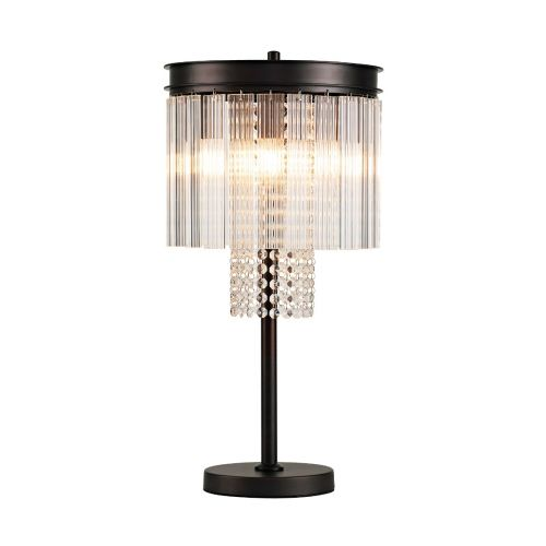 Table Lamp 6 Light Brown Oxide Alanah LEK3505
