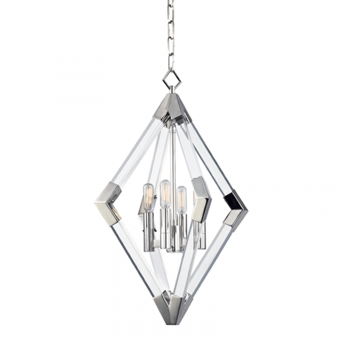 Pendant Ceiling Light Polished Nickel Hudson Valley Lyons 4617-PN-CE