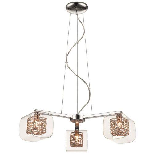 Ceiling Pendant  3 Light Copper and Polished Chrome Lekki Aldermoor LEK7065