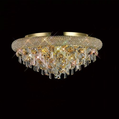 Diyas  Alexandra 7 Light Ceiling Light Gold/Crystal IL32106