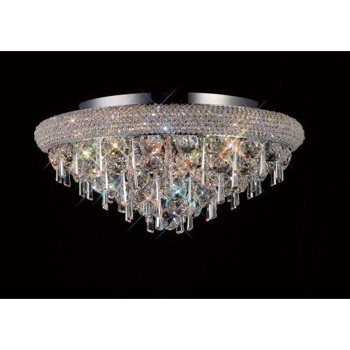 Diyas  Alexandra 7 Light Ceiling Light Polished Chrome/Crystal IL31446