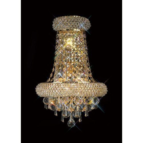 Diyas  Alexandra  Large 3 Light Wall Lamp Gold/Crystal IL32102