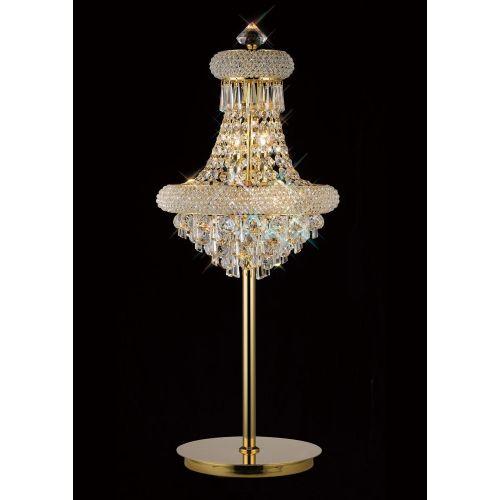 Diyas  Alexandra 5 Light Table Lamp Gold/Crystal IL32103