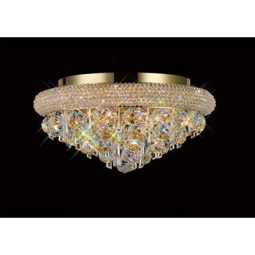Diyas  Alexandra 6 Light Ceiling Light Gold/Crystal IL32105