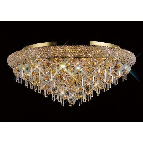 Diyas  Alexandra 9 Light Ceiling Gold/Crystal IL32107