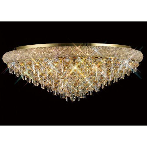 Diyas  Alexandra 18 Light Ceiling Light Gold/Crystal IL32109