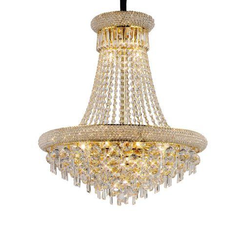 Diyas  Alexandra 13 Light Pendant Gold/Crystal IL32111