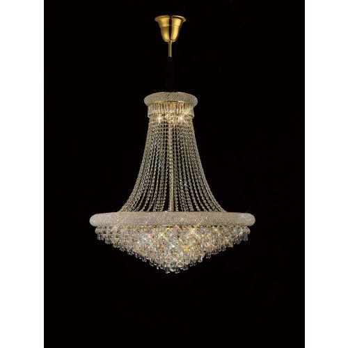 Diyas  Alexandra 18 Light Pendant Gold/Crystal IL32112