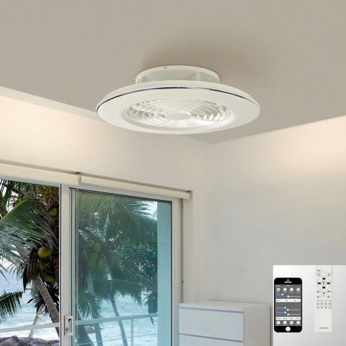 Mantra Alisio Medium White Ceiling Fan 70W LED Light Dimmable Remote Controlled M6705