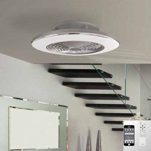 Mantra Alisio Medium Grey Ceiling Fan 70W LED Light Dimmable Remote Controlled M6706