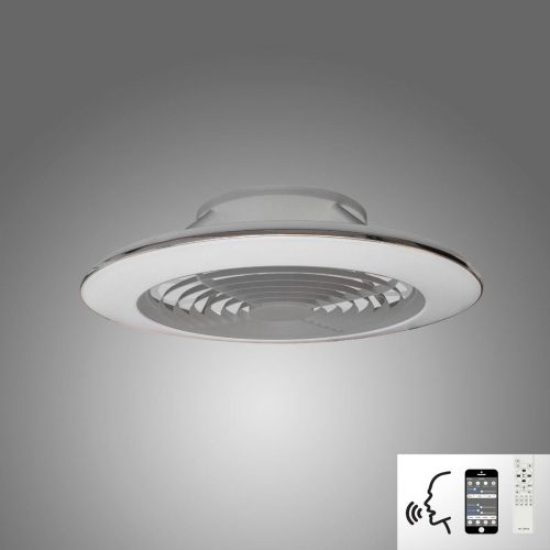 Mantra Alisio XL Silver Ceiling Fan 95W LED Light Dimmable Remote Controlled M7491