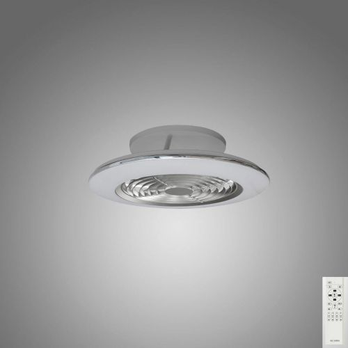 Mantra Alisio Mini Silver Ceiling Fan 70W LED Light Dimmable Remote Controlled M7494