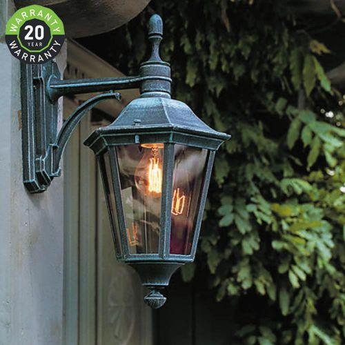 Noral Allegro F Outdoor Wall Light Lantern Black NOR/7303112 20 Year Warranty