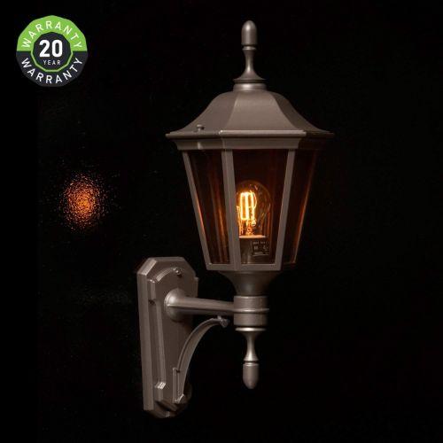 Noral Allegro A Outdoor Wall Light Lantern Black NOR/7303102 20 Year Warranty