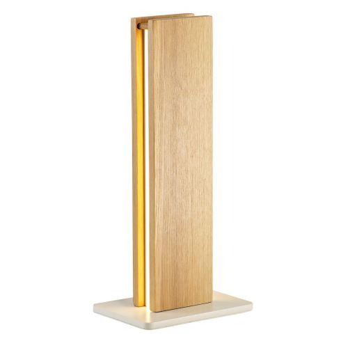 LED Table Lamp Oak Matt White Lekki Adair LEK3009