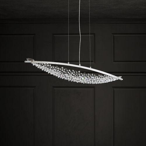 Schonbek Amaca 2 Light Swarovski Crystal Pendant Fitting Stainless Steel SHK300E-SS1S