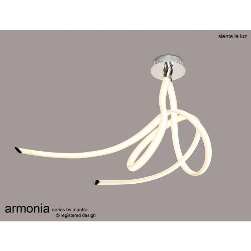 Mantra Armonia Large Semi Flush Ceiling Fitting 60W LED 3000K 4500lm White Chrome M6720