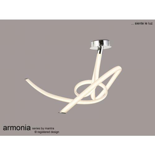Mantra Armonia Medium Semi Flush Ceiling Fitting 60W LED 3000K 4500lm White Chrome M6721
