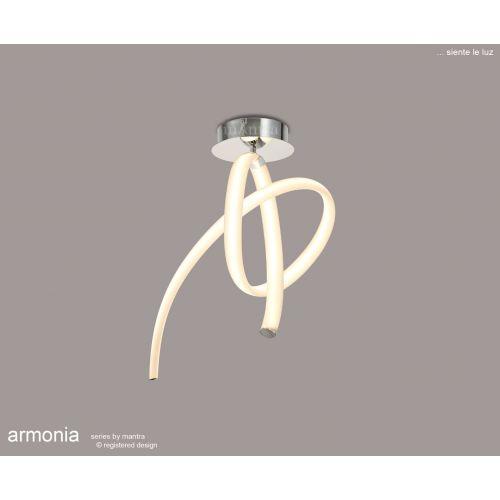 Mantra ArmoniaSemi Flush Ceiling Fitting 40W LED 3000K3000lm White Chrome M6724