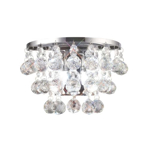 Diyas Atla Wall Lamp Switched 2 Light Polished Chrome/Crystal IL30014