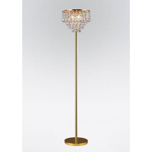 Diyas IL30032 Atla Floor Lamp 4 Light French Gold/Crystal