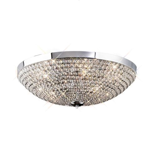 Diyas Ava 6 Light Ceiling  Polished Chrome/Crystal IL30188