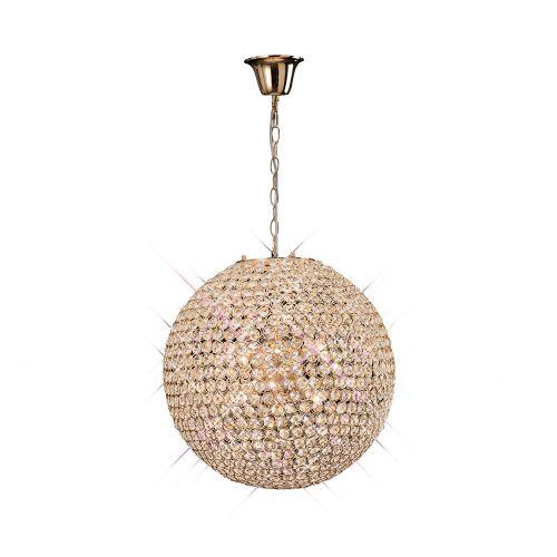 Diyas IL30753 Ava Pendant 7 Light French Gold/Crystal