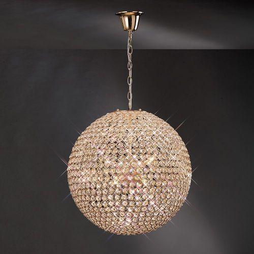 Diyas IL30754 Ava Pendant 9 Light French Gold/Crystal