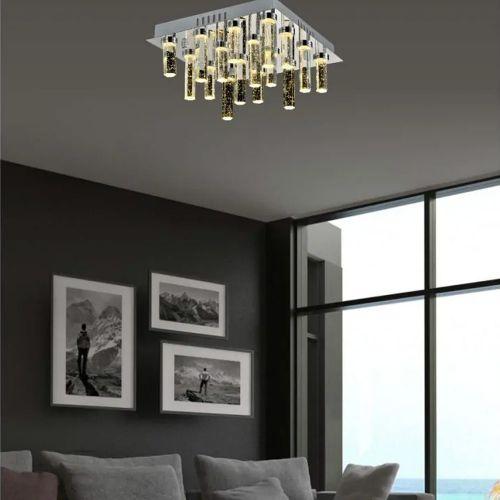 Avivo Cascade FX1609-16B CH 16 Light LED Flush Polished Chrome Ceiling Fitting