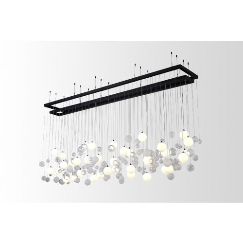 Avivo Bolla PD20215-36A Cluster Ceiling Bar Pendant Fitting Clear and Opal Glass