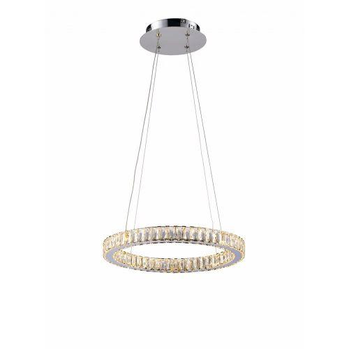 Avivo Halo PD1305-1B 1 Tier Ring LED Pendant Light Fitting Polished Chrome