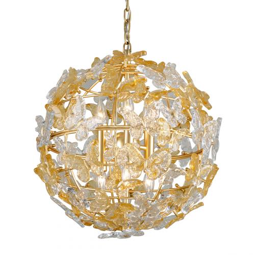 Ceiling Pendant 6 Light Gold Leaf Corbett Milan 279-46-CE