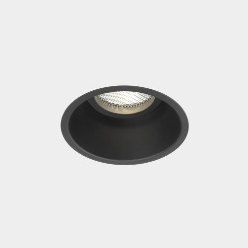Astro Minima Round Fixed Indoor Downlight in Matt Black 1249015
