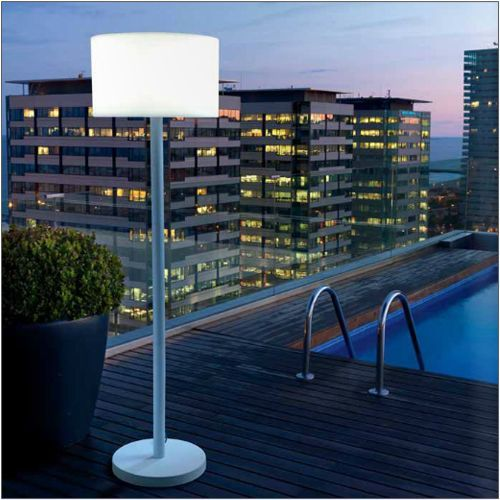 LEDS C4 Smooth Outdoor White Floor Lamp 25-9614-14-M1