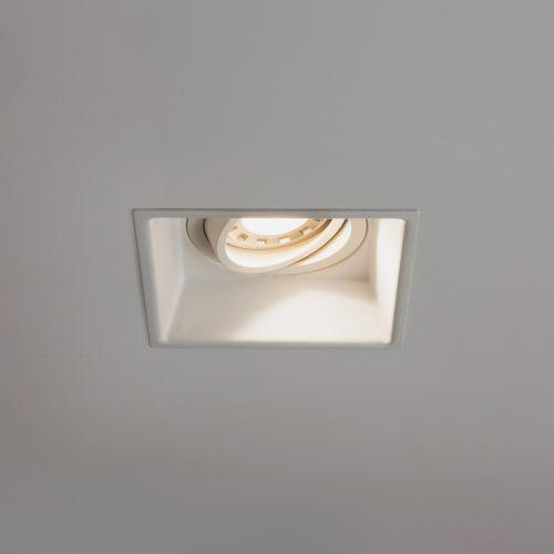 Astro Minima Square Adjustable Indoor Downlight in Matt White 1249006