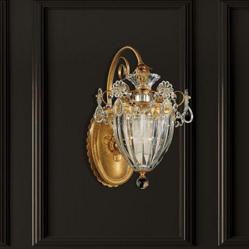 Schonbek Bagatelle Single Heritage Crystal Wall Light Sconce 1240E-211 Gold