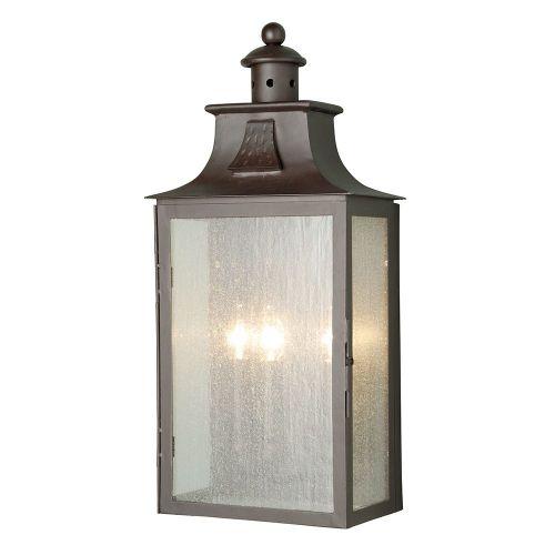 Elstead Balmoral Wrought Iron Large Half Walll Lantern Balmoral