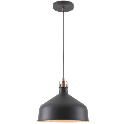 Ceiling Pendant Light Fitting Sand Black Copper White Lekki Blake LEK3047