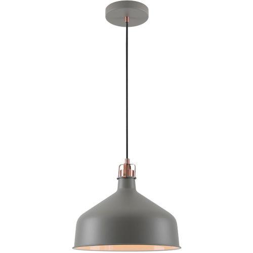 Ceiling Pendant Light Fitting Sand Grey Copper White Lekki Blake LEK3048